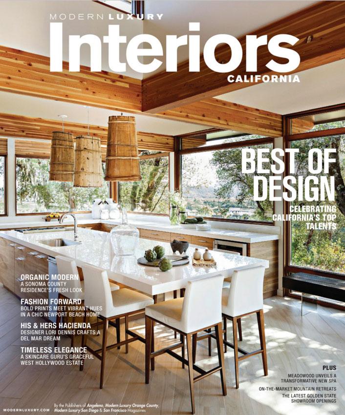 2016 Modern Luxury Cover Feature Mas Design Interior Design In Tiburon California
